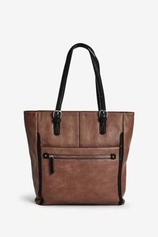 Mink Zip Shopper Bag
