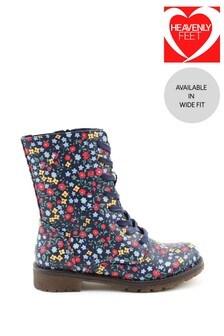 Heavenly Feet Chloe Black Lace Mid-Calf Boots
