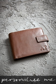 Personalised Trifold Italian Leather Wallet