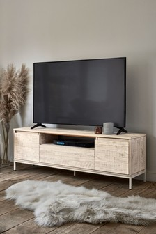 Jefferson White Wide TV Stand
