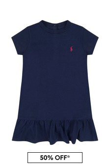 Baby Girls Navy Cotton Dress