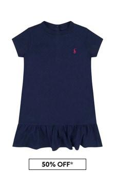 فستان قطن للبنات الصغار منRalph Lauren