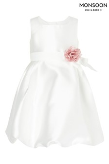 Monsoon Baby Natural Pearl Puffball Dress