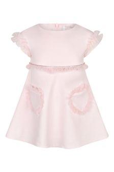 فستان وردي بناتي