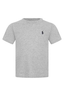 Baby Boys Grey Cotton Jersey T-Shirt