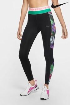 Nike Icon Black Clash Printed 7/8 Leggings