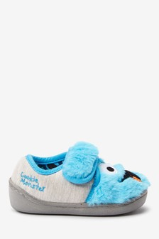 Multi Sesame Street Strap Touch Slippers (Younger)