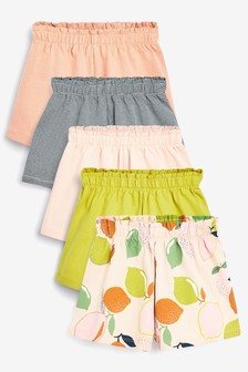 Multi 5 Pack Organic Cotton Shorts (3mths-7yrs)