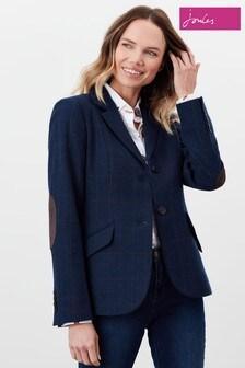 Joules Blue Milford Single Breasted Tweed Jacket