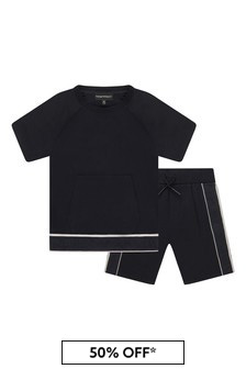 Boys Navy T-Shirt And Shorts