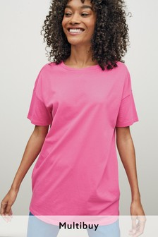 Bright Pink Oversized T-Shirt