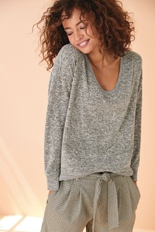 Grey Cosy Top