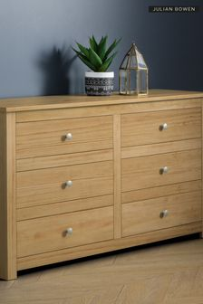 Julian Bowen Radley Waxed Pine 6 Drawer Chest