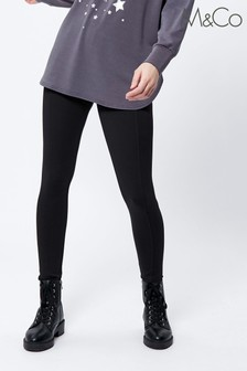 M&Co Black Luxe Thicker Material Leggings