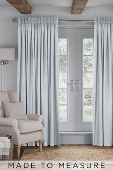 Legna Sky Blue Made To Measure Curtains
