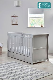 Nebraska Cot Bed Grey By East Coast