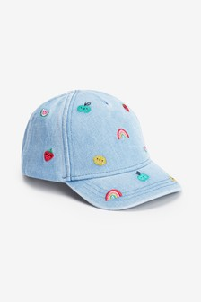 Denim Embroidered Cap (Younger)
