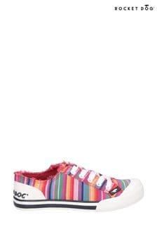 Rocket Dog Red Jazzin Eden Stripe Lace Up Shoes