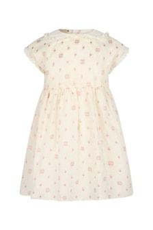 GUCCI Kids Baby Girls Cream Cotton Dress