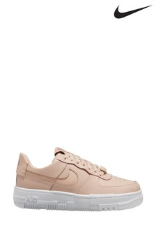 Nike Pink/White Air Force 1 Trainers