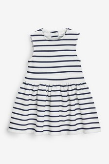 Navy Stripe Ponte Dress (3mths-7yrs)