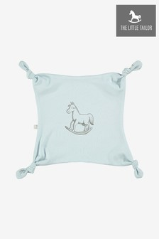 The Little Tailor Blue Print Rocking Horse Jersey Comforter