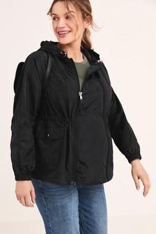 Black Maternity 2-In-1 Shower Resistant Lightweight Packable Jacket