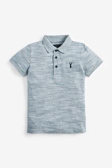 Blue Textured Polo Shirt (3-16yrs)