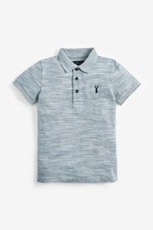 Blue Textured Poloshirt (3-16yrs)