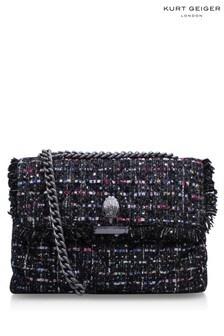 Kurt Geiger London Black Tweed Kensington Bag
