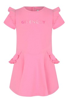 Baby Girls Pink Cotton Jersey Dress