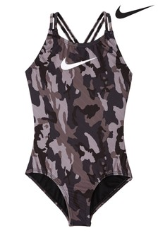 Nike Camo Spiderback Swimsuit