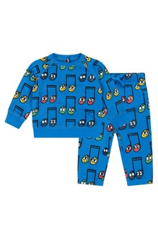 Baby Boys Blue Happy Notes Tracksuit