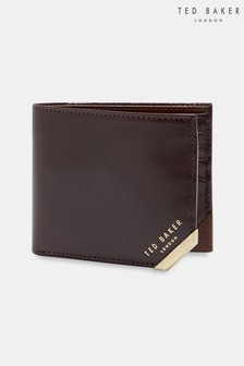 Ted Baker Brown Korning Metal Corner Coin Wallet