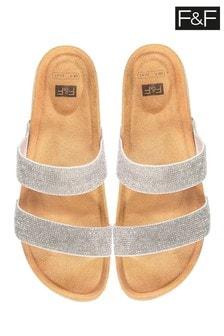 F&F Silver Sandals