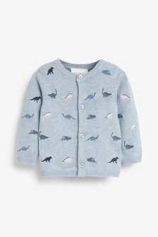 Blue Dinosaur Embroidered Cardigan (0mths-3yrs)