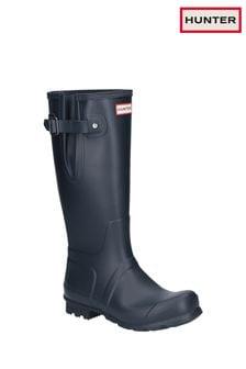 Hunter Blue Original Side Adjustable Wellington Boots