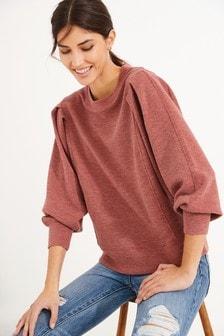 Rust Textured Sweatshirt