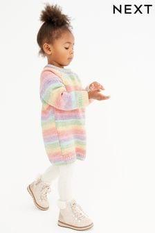Rainbow Chenille Jumper Dress (3mths-7yrs)