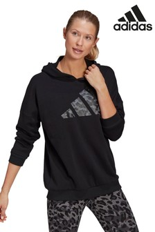 adidas Future Icons Black Oversized Pullover Hoody
