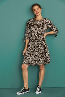 Animal Maternity/Nursing Layer Dress