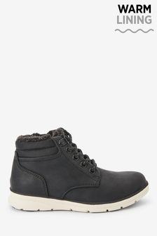Black Lightweight Warm Lined Boots (Older)