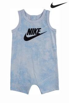 Nike Baby Blue Tie Dye Romper
