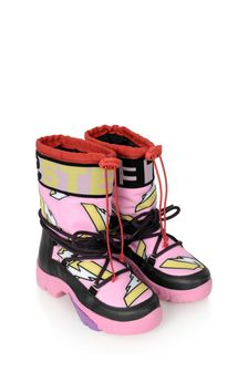 Girls Pink Lightning Ski Boots