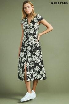 Whistles Starburst Floral Print Dress