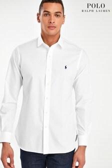 Polo Ralph Lauren White Stretch Custom Fit Icon Shirt