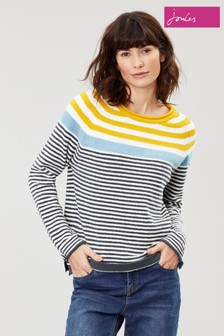 Joules Cream Seaport Stripe Jumper
