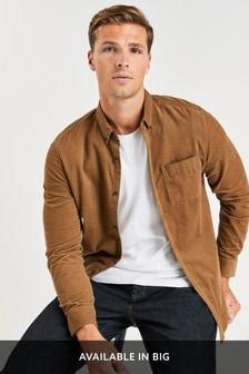 Stone Slim Fit Long Sleeve Cord Shirt