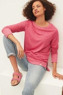 Pink Cosy Raglan Top