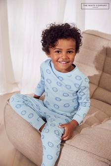 The White Company Blue Lion Print Pyjamas
